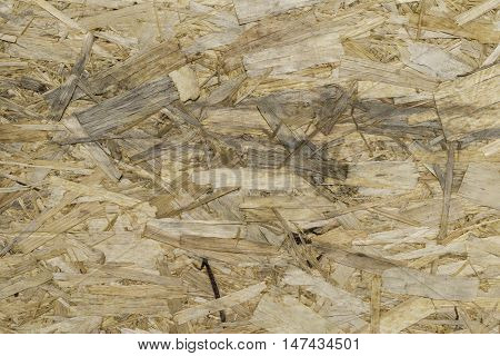 texture of yellow wooden oriented strand board