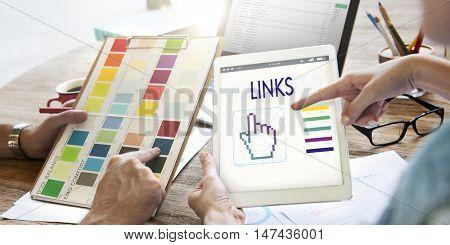 Links Seo Webinar Hand Cyberspace Concept