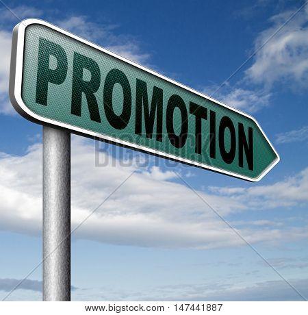 job promotion or product sales promotion  3D illustration