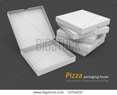 White Pizza Packaging Boxes