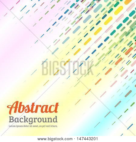 Abstract background  dashed line. colorful dashed line