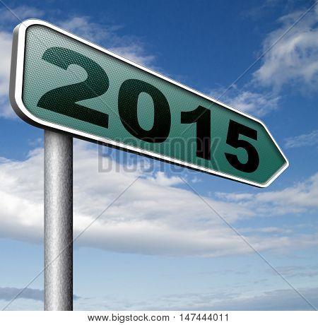 next year 2015 new start happy new year 3D illustration