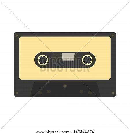 Audio Cassette Icon. Retro Music Gadget From 21-st Century. Old Musical Device Vector Illustration.