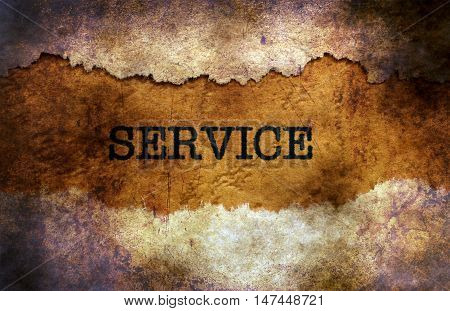 Service Text On Grunge Background