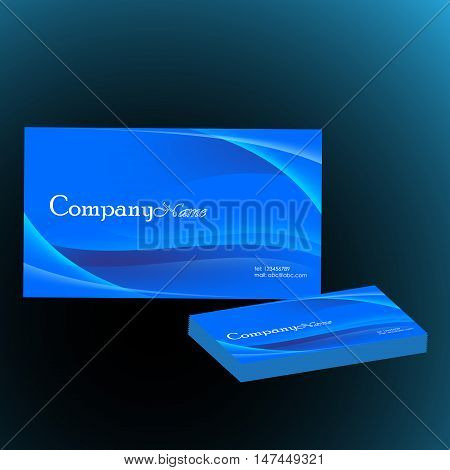 blue business card vector illustration template of business card