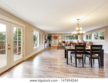 Open Floor Plan Spacious Room Interior. Dining Area