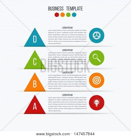 Stock illustration timeline infographic four option with arrow