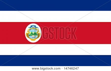 Flag of Costa Rica with Coat of Arms