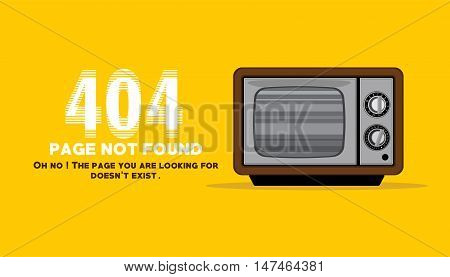 page not found with tv lost channel illustration vector