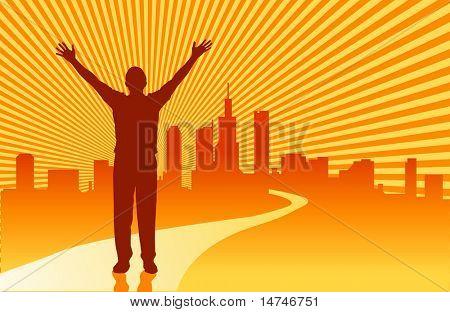 O caminho para o sucesso - vetor