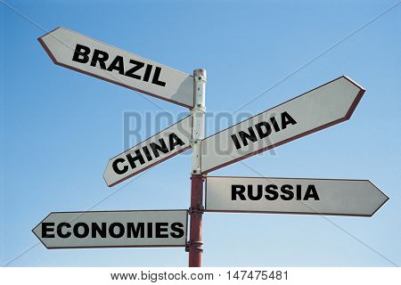 BRIC economies sign post