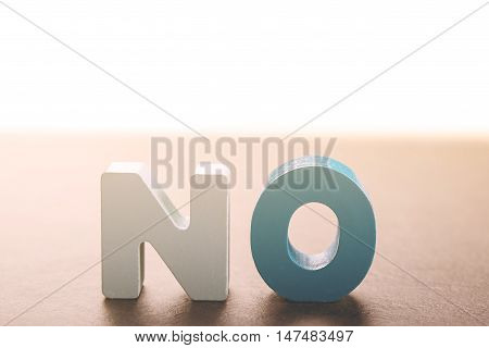 Wooden Letters Form The Word No