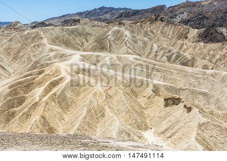 Landscape at Zabriskie Point in Death Valley National Park, California