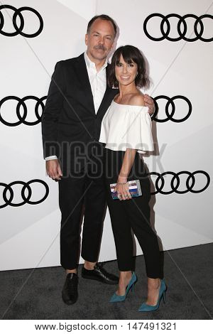 LOS ANGELES - SEP 15:  Russ Lamoureux, Constance Zimmer at the Audi Celebrates The 68th Emmys at the Catch on September 15, 2016 in West Hollywood, CA