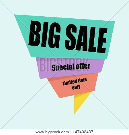 Big sale banner template design. Business concept