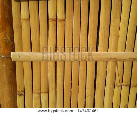 bamboo slat side wall of a vendor hut, Songkhla, southern Thailand
