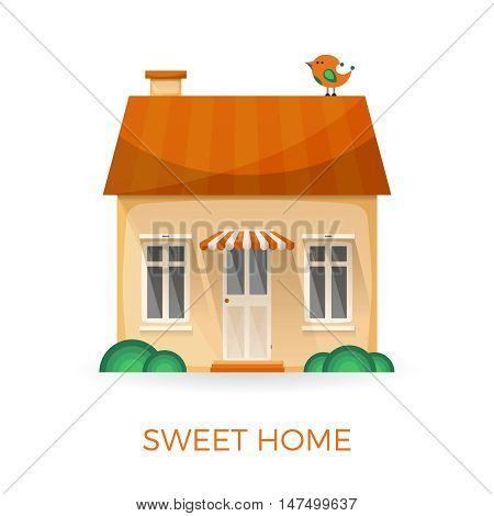 Sweet Home Simple Vector Concept In Flat Style