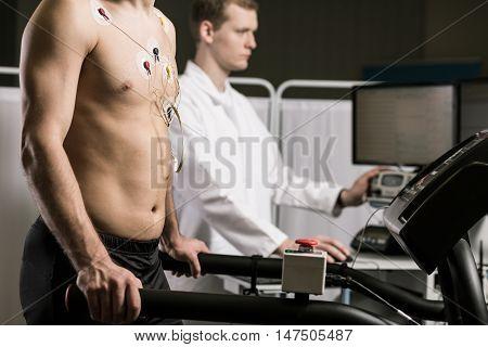 Examining His Condition