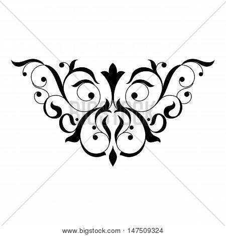 Vintage pattern, baroque pattern, scroll pattern, ornamen pattern, border pattern, floral pattern, decor pattern, decoration pattern. Vector.