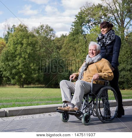 Senior Spending Leisure Time Outdoors