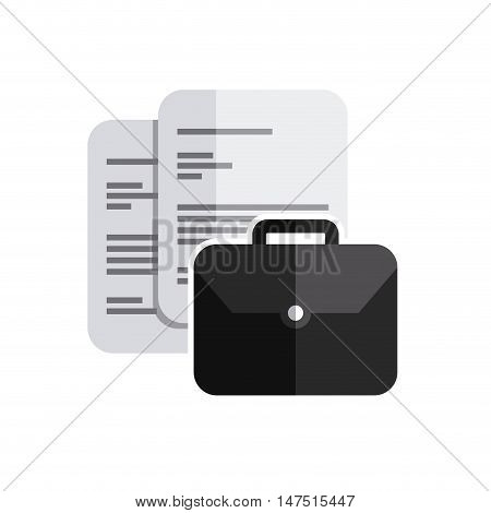 paper documents with business icon vector illustration design
