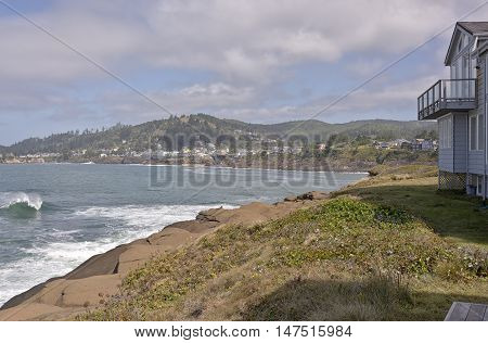 Oregon coastline real estate and surrounding towns.