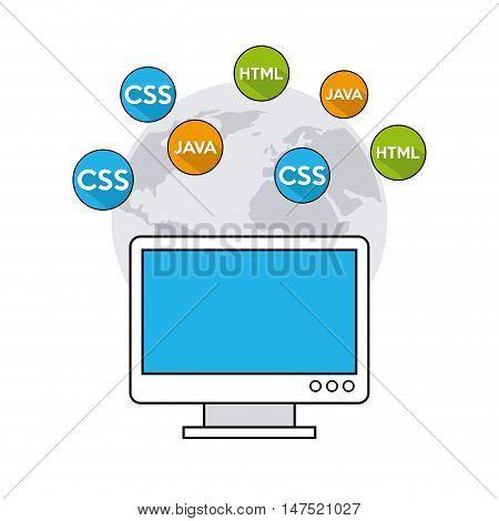 software programming language icons vector illustration design