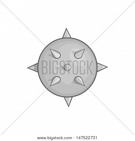 Bacteria or virus icon in black monochrome style on a white background vector illustration