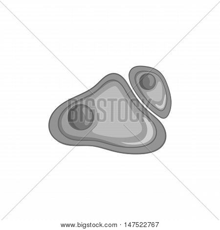 Cell nucleus icon in black monochrome style on a white background vector illustration