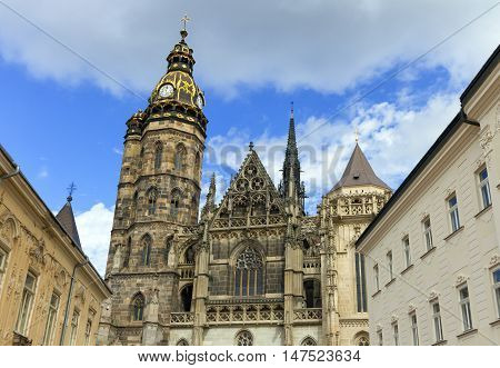 St. Elisabeth Cathedral in Kosice by day, Slovakia