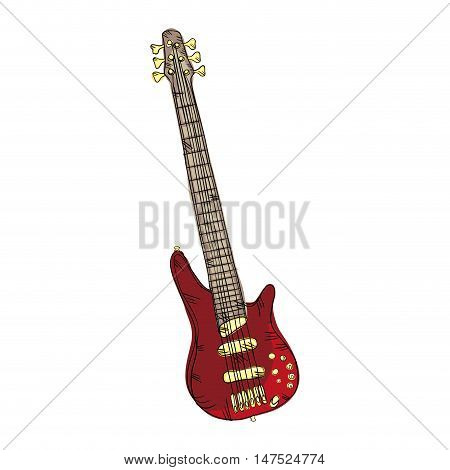electric guitar musical instrument. traditional music element. vector illustration
