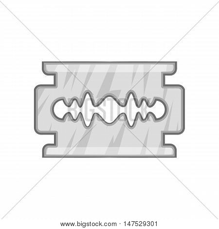Blade razor icon in black monochrome style isolated on white background vector illustration
