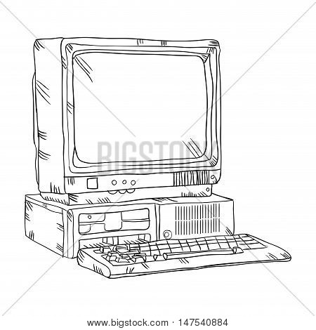 Retro Computer Vector & Photo (Free Trial) | Bigstock