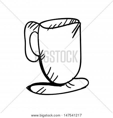 coffee mug drink. caffeine beverage. vector illustration