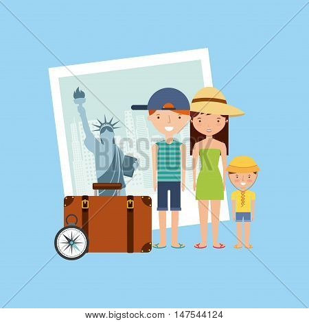 new york city holidays vector illustration design