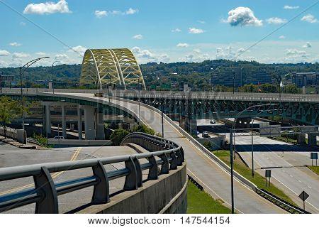 Daniel Carter Beard Bridge also known as Big Mac bridge, downtown Cincinnati