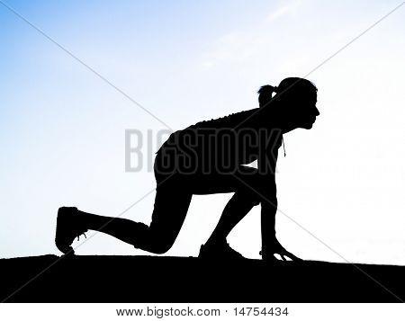 runner silhouette, siluetas