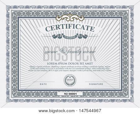 certificate template and element. classic design certificate.
