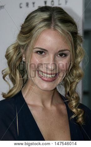 Erica Yates at the Los Angeles screening of 'Cry Wolf ' held at the ArcLight Theaters Hollywood, USA on September 15, 2005.