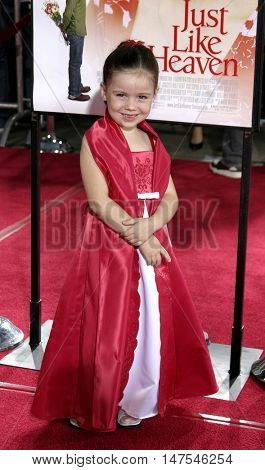 Alyssa Shafer at the Los Angeles premiere of 'Just Like Heaven' held at the Grauman's Chinese Theatre Hollywood, USA on September 8, 2005.