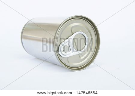 Cans,The pop-top lid cans on white background. Packaging cans Tin can easy open ends for beverage and food packaging Tin containers chemicals.