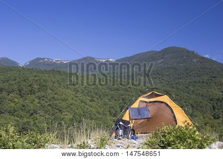 Camping On The Mountain Top.