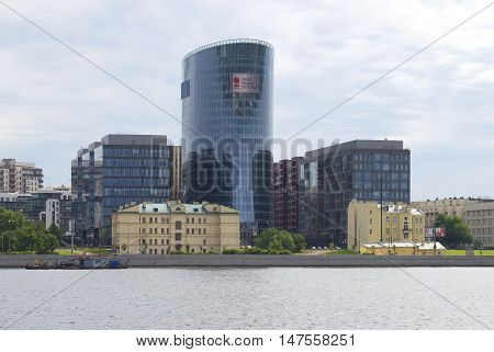 SAINT PETERSBURG, RUSSIA - JULY 26, 2015: View of the buildings of the business complex