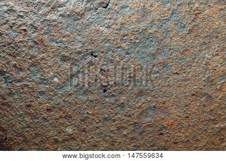 Macro of harsh lighten corroded iron plate