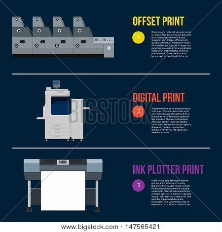 Copy and polygraph equipment. Business press machines. Color media collection. Color Ink and cartridge. Paper for laser and ink print. Copy and scan. Laser ink offset machine. Banner template.