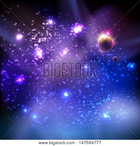 Universe background easy editable easy all editable