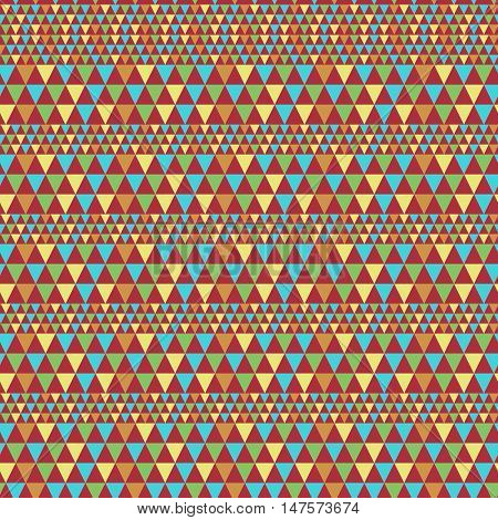 Horizontal Triangle Tileable Seamless Hipster Pattern Background