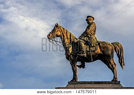 SOFIA, BULGARIA - FEBRUARY 14, 2016: Monument to Russian Tsar Alexander II, called locally