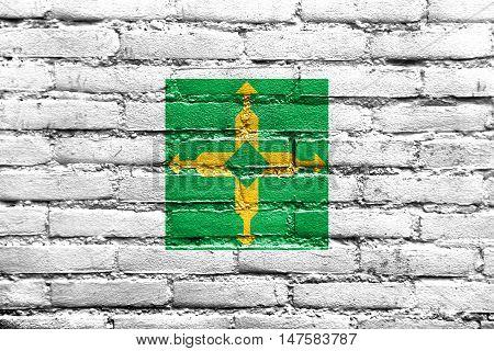 Flag Of Brasilia, Distrito Federal, Brazil, Painted On Brick Wall