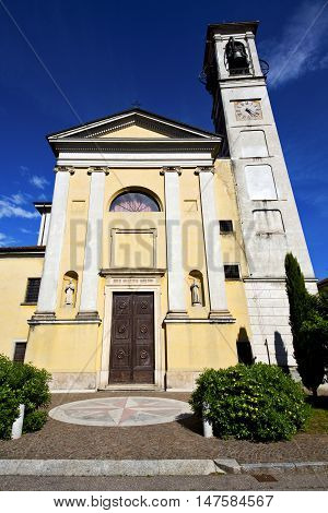 Church Solbiate Arno Varese Italy The Old Wall Terrace